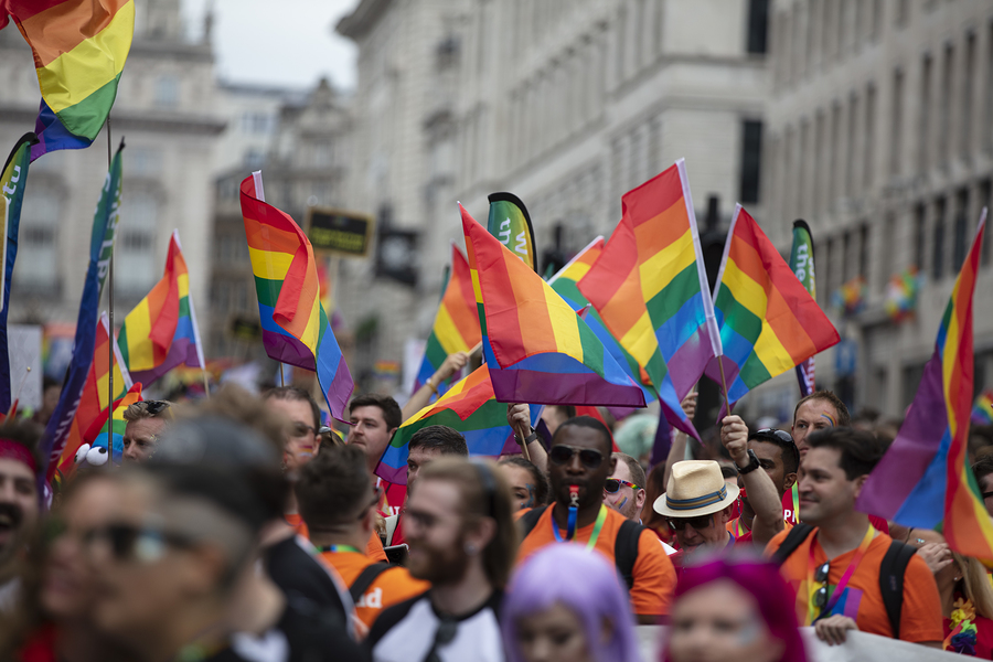 LGBTQ gay pride march